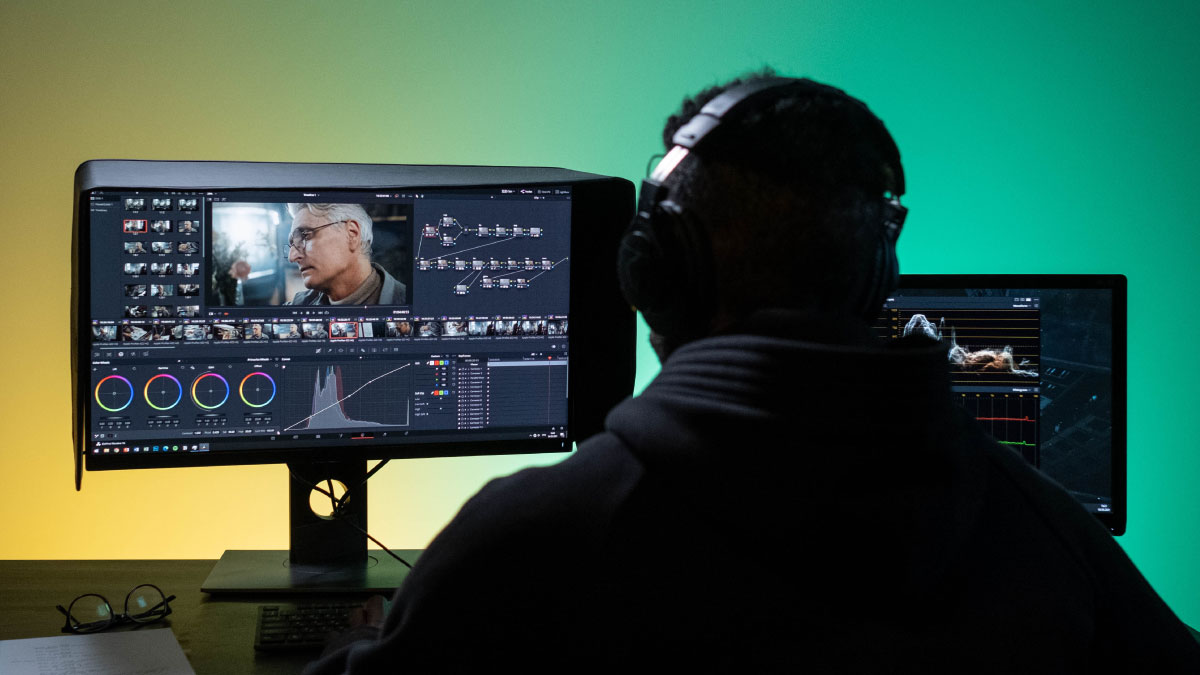 Post-production works of a professional video creation