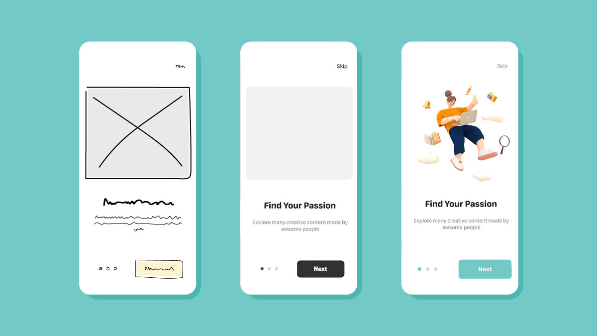 Wireframe in ux design process