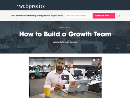 Webprofits Blog Post